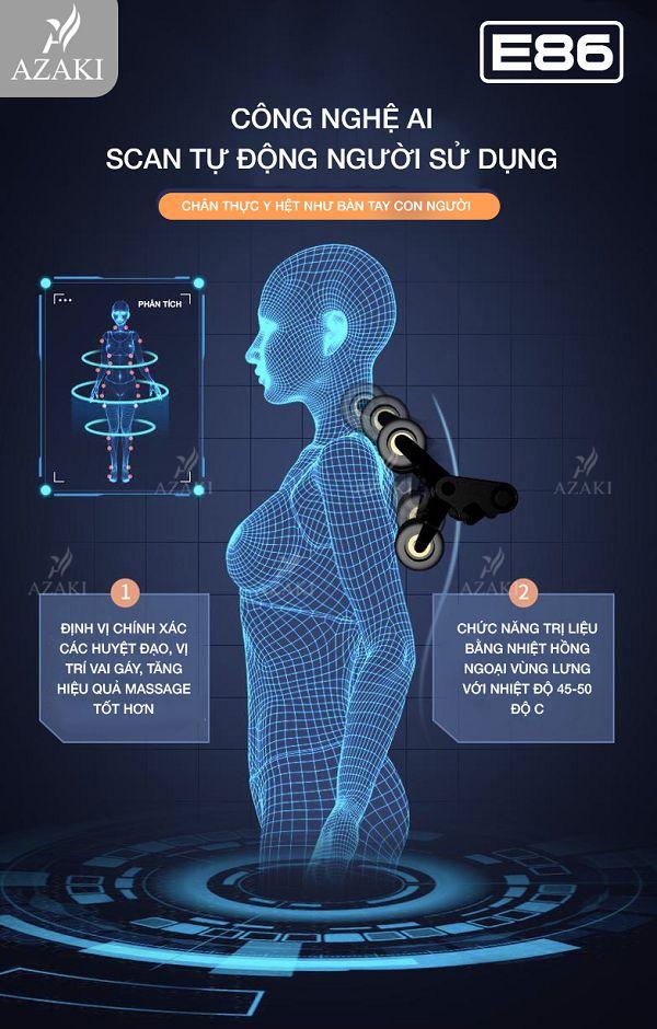 Chế độ AI Body Scan tự động