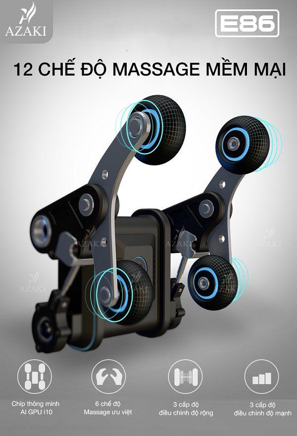 12 chế độ massage