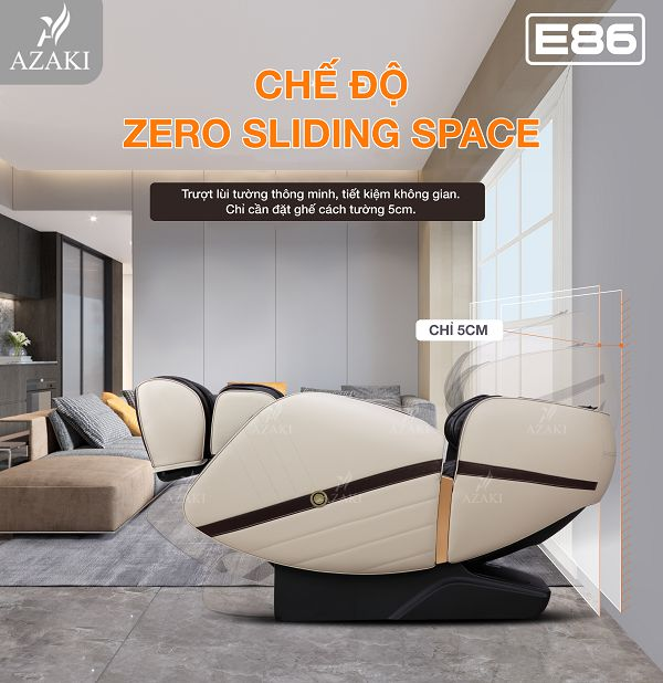 công nghệ Zero Sliding space trượt lui tường